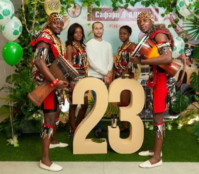 """Февраль 2019, корпоративный праздник в стиле """"Африканское сафари"""""""