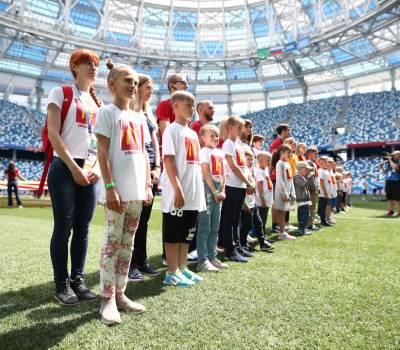 Июнь 2018. «На Чемпионат Мира по футболу FIFA 2018™ вместе с Макдоналдс»